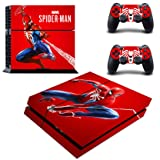 Decal Moments Regular PS4 Console Set Vinyl Skin Decal Stickers Protective for PS4 Playstaion 2 Controllers Spiderman