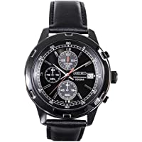 Seiko SKS439 Stainless Steel Black Plated Case Chronograph Mens Quartz Watch
