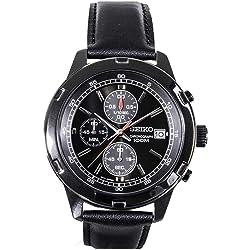 Seiko SKS439 Stainless Steel Black Plated Case Chronograph Mens Quartz Watch