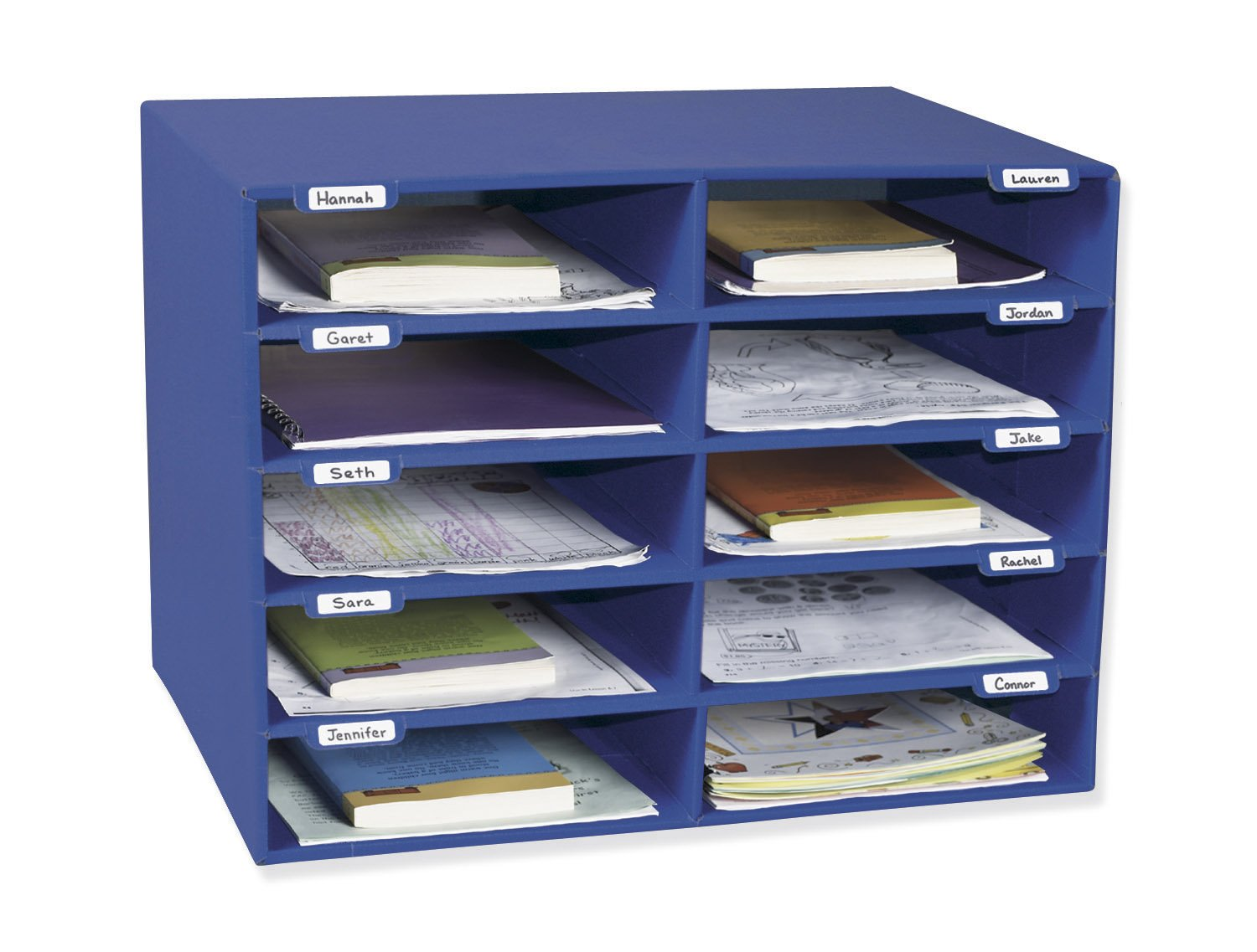 Classroom Keepers 10 Slot Mailbox, Blue
