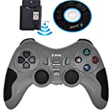 Wireless Pro Game Pad Joystick Remote Game Controller for PC Computer Laptop Notebook PS2 PS3 (Grey) (Color: Grey)
