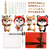 Needle Felting Kit for Beginners, Needle Felting Starter Kit with 6 Pcs Colorful Needle Felting Needles and Instructions, Wool Felting Supplies for Christmas, Children's Day, Other Festival and Crafts (Color: Felting Needles)