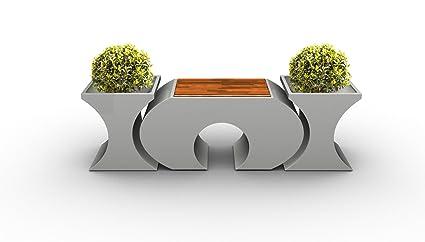 Original lagrino Sillas en blanco brillante.-Taburete + Jarrones-Witte Run gsbest integrado de, acero, blanco brillante, 3 Hocker + 4 Vasen