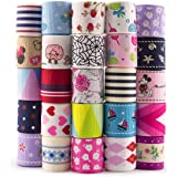 Summer-Ray 25 Yards 1 Inch Printed Grosgrain Ribbon 25 Designs Value Pack