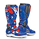 Sidi Crossfire 3 SRS Boots (WHITE/BLUE/FLO RED) (Color: WHITE/BLUE/FLO RED, Tamaño: 43)