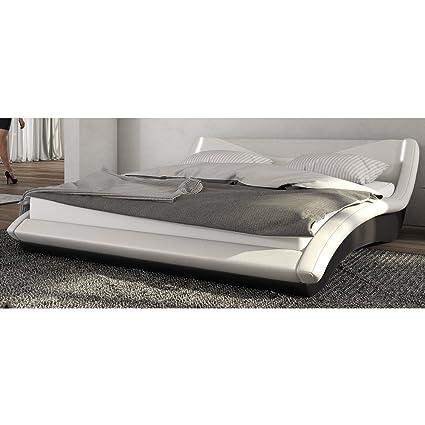 Innocent tapizada cama 180x 200cm Blanco/Negro con LED Lebua