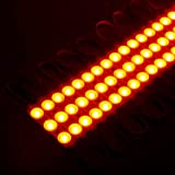 200 PCS Yellow Emitting Color 1.32 W DC12V Injection 3 LED Module Waterproof Decorative Back Light for Letter Sign Advertising Signs with Tape Adhesive Backside (Color: Yellow)