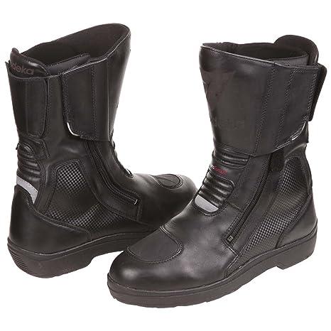 Modeka tRANSEUROPE bottes de moto en cuir noir