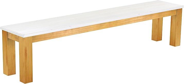 Brasil Mobili sella 'Rio classico' 208cm, in legno di pino massiccio, tinta Snow–MIELE