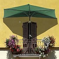 Yescom 07UMB018 10-FT Patio Half Aluminum Umbrella Sun Shade