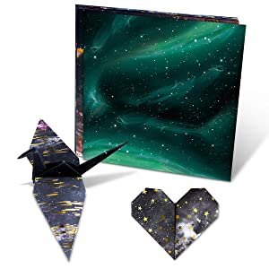 Paperkiddo 96 Sheets Origami Paper Starry Space Pattern Premium Quality Craft Folding Paper for Arts and Crafts 6x6 (Color: Starry Space, Tamaño: 15x15cm / 6x6)