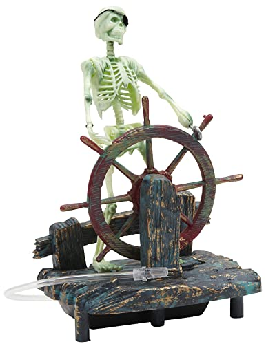 Penn-Plax Action Air Pirate Skeletons & Pirate Ships Live Action Aquarium Ornaments