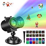 Christmas Lights, Gemwon 2-in-1 Projector Lights with Water Wave & Moving Patterns, Outdoor Waterproof Decorative Lights for Xmas, Halloween, Parties, Holidays, House, Wedding (Color: Xmas Projector Light With Water Wave)
