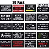 20 Pieces Tactical Morale Embroidery Patch Funny Military Patches Morale Patch Bundle for Caps Bags Backpack Clothes Uniforms Velcro Patches Tactical