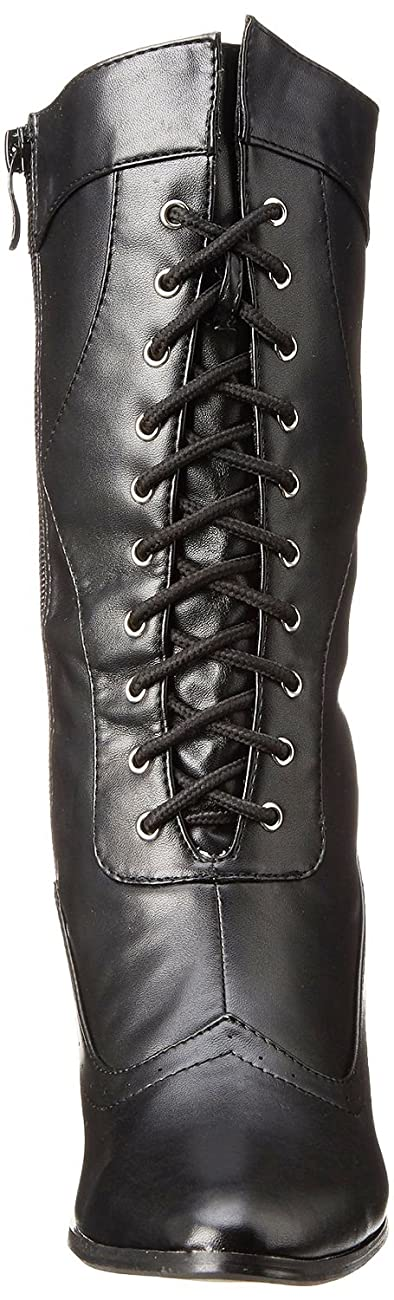 Ellie Shoes Women's Amelia Victorian Boots Black Polyurethane Vintage Ankle Boot with Zipper 2