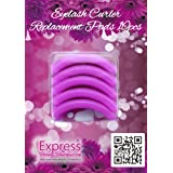 Express Beauty Boutique Eyelash Curler Silicone Replacement Pads. 10 pcs Pink Refills Create Permanent Eye Lash Curls (Color: Black, Pink)