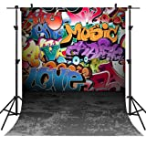 OUYIDA 5X7FT Wall Graffiti Style Pictorial Cloth Photography Background Computer-Printed Vinyl Backdrop TG01A (Color: TG01, Tamaño: 5X7FT)