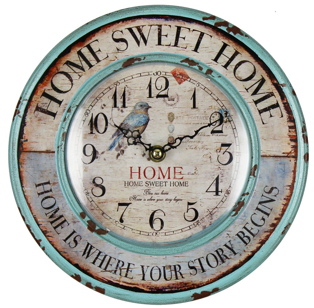 Original Vintage Style Rustic Home Themed Wooden Wall Clock by Haysom Interiors 0