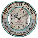 Original Vintage Style Rustic Home Themed Wooden Wall Clock by Haysom Interiors