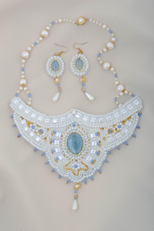 Schmuck Set handmade Modeschmuck Ohrringe Collier Halskette Mode Accessoires jetzt kaufen