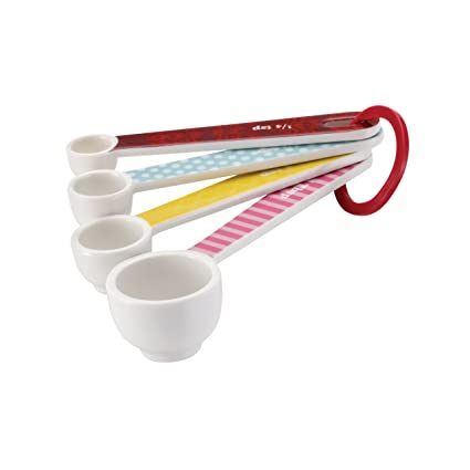 Cake Boss Countertop Accessories 4-Piece Melamine Measuring Spoon Set, Basic