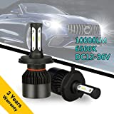 H4 LED Car Headlight Bulbs Pack 2, High Power Car LED Headlamp Conversion Kits All-in-One 60W 10000lm 6500K with CSP Chips for Car Light Replacement (H4/ HB2/ 9003- Hi/Lo) (Tamaño: H4/ HB2/ 9003- Hi/Lo)
