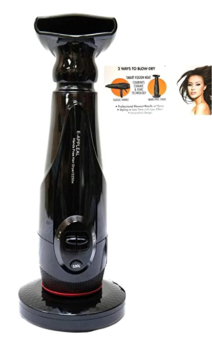 NIA HANDS FREE LIGHTWEIGHT 2250 WATTS HAIR DRYER BY: E-APPEAL BLACK