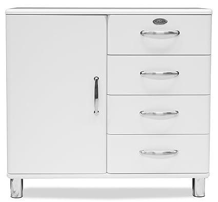 Tenzo 5235-005 Malibu - Designer Kommode / Sideboard 92 x 98 x 41 cm, MDF lackiert, weiß
