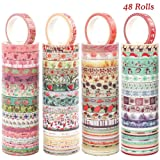 Cocoboo 48 Rolls Seasonal Washi Tape Set, 8mm Wide Four Season Paper Tapes for DIY, Craft, Gift and Scrapbook Decoration (Color: Multicolored)