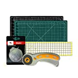W.A. Portman Rotary Cutter with Self Healing Mat &Quilting Ruler –Professional Quilting & Sewing Set (12x18) (Tamaño: 12x18)