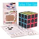 HelloCube ZCUBE Carbon Fiber Sticker 333 Magic Cube Children Teaser