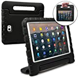 Cooper Dynamo Kids case Compatible with Galaxy Tab A 10.1   Shock Proof Heavy Duty Kidproof Cover for Kids   Girls, Boys   Kid Friendly Handle & Stand, Screen Protector   Samsung SM-T580 T585 (Black) (Color: Black, Tamaño: Samsung Galaxy Tab A 10.1)