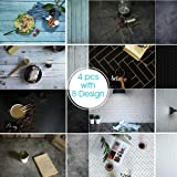 Evanto 23x35Inch Photo Background Kit for Flat Lay & Food Photography & Instagram Backdrop (Color: four pcs)