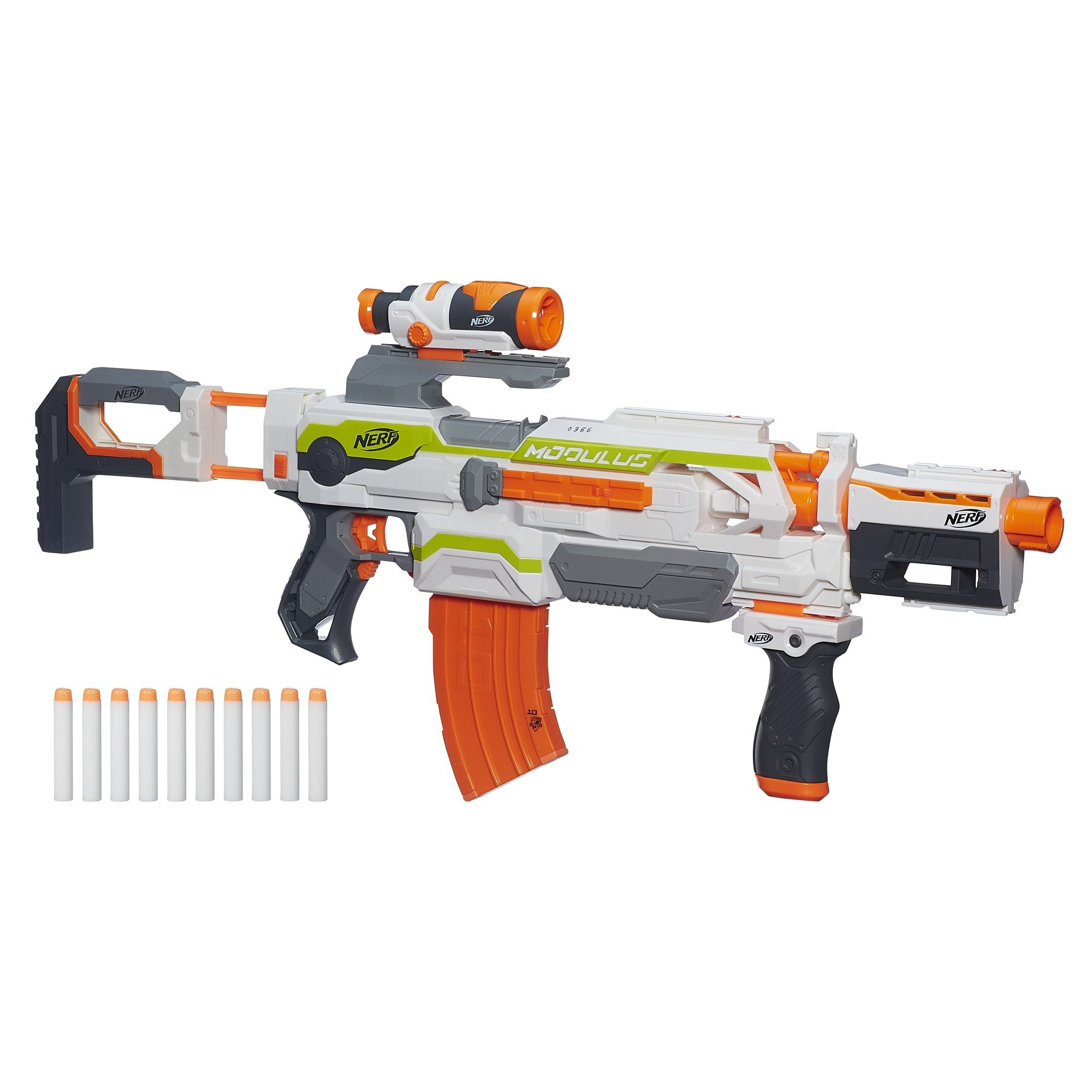 Nerf N-Strike Modulus ECS-10 Blaster Kids Toy Rifle Fun ...