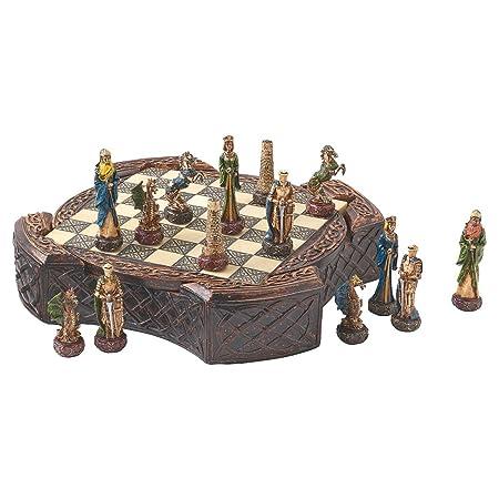 Toscano Jeu d'échecs et plateau Guerriers celtiques légendaires