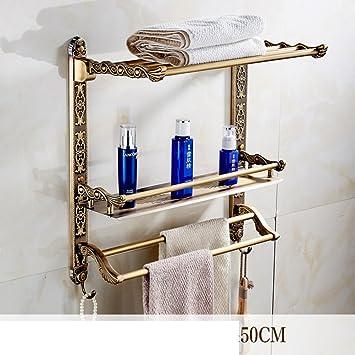 Antico multifunzionale doppio tovagliolo mensola/Asciugamano/ panchina gancio bagno cosmetica-H