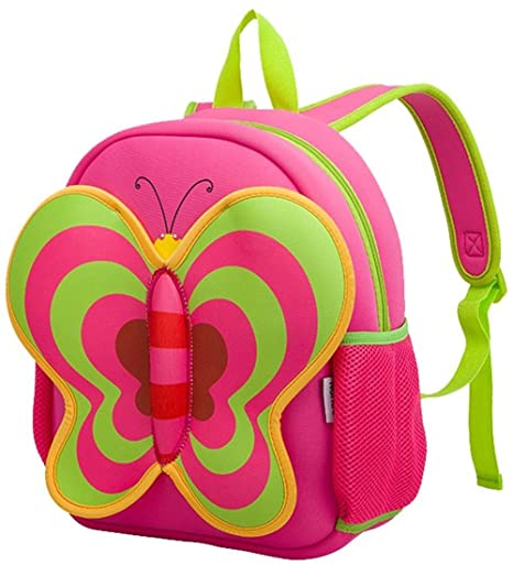 Nohoo les enfants cadeau Cartoon sac tout-petits enfants sac ¨¤ dos - joli papillon Pack Red(13*10.3*4.8 inch) - No?l cadeau pour 3-8 ans