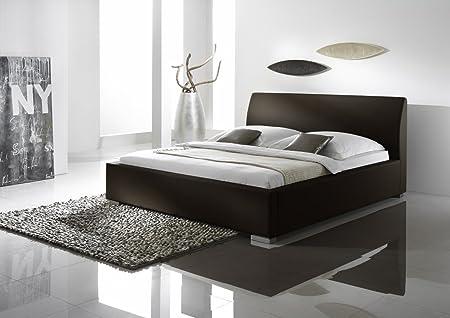 Dreams4Home Polsterbett Arco Comfort, in versch. Größen 100, 140, 160, 180, 200x200cm, Braun, Liegefläche:100x200 cm;Überlänge:Mit Überlänge 210 cm