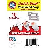 Be Smart Get Prepared - Quick Seal Nosebleed Plugs - 10 Plugs (Tamaño: 10 plugs)