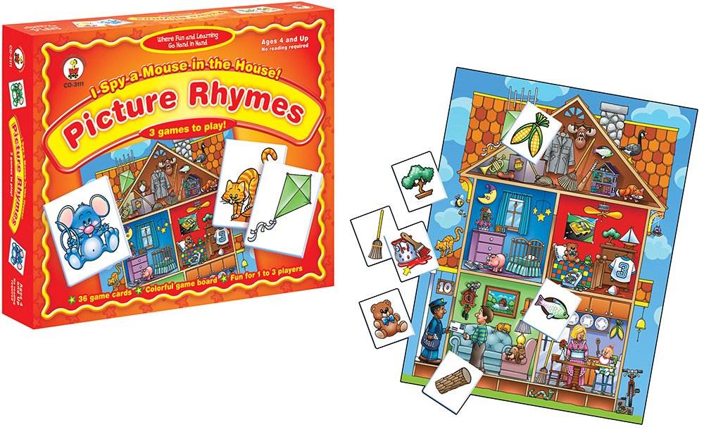 Amazon.com: I Spy a Mouse in the House! Picture Rhymes Educational ...