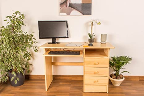 Schreibtisch Holz natur