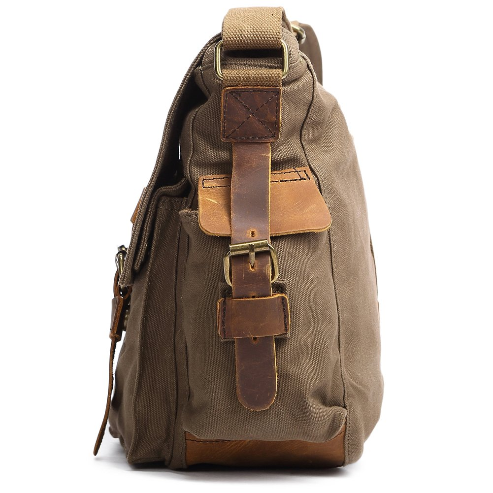 Kattee Men's Canvas Leather DSLR SLR Vintage Camera Messenger Bag 3