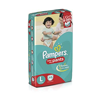 Image result for Pampers Large Size Diaper Pants (48 Count)
