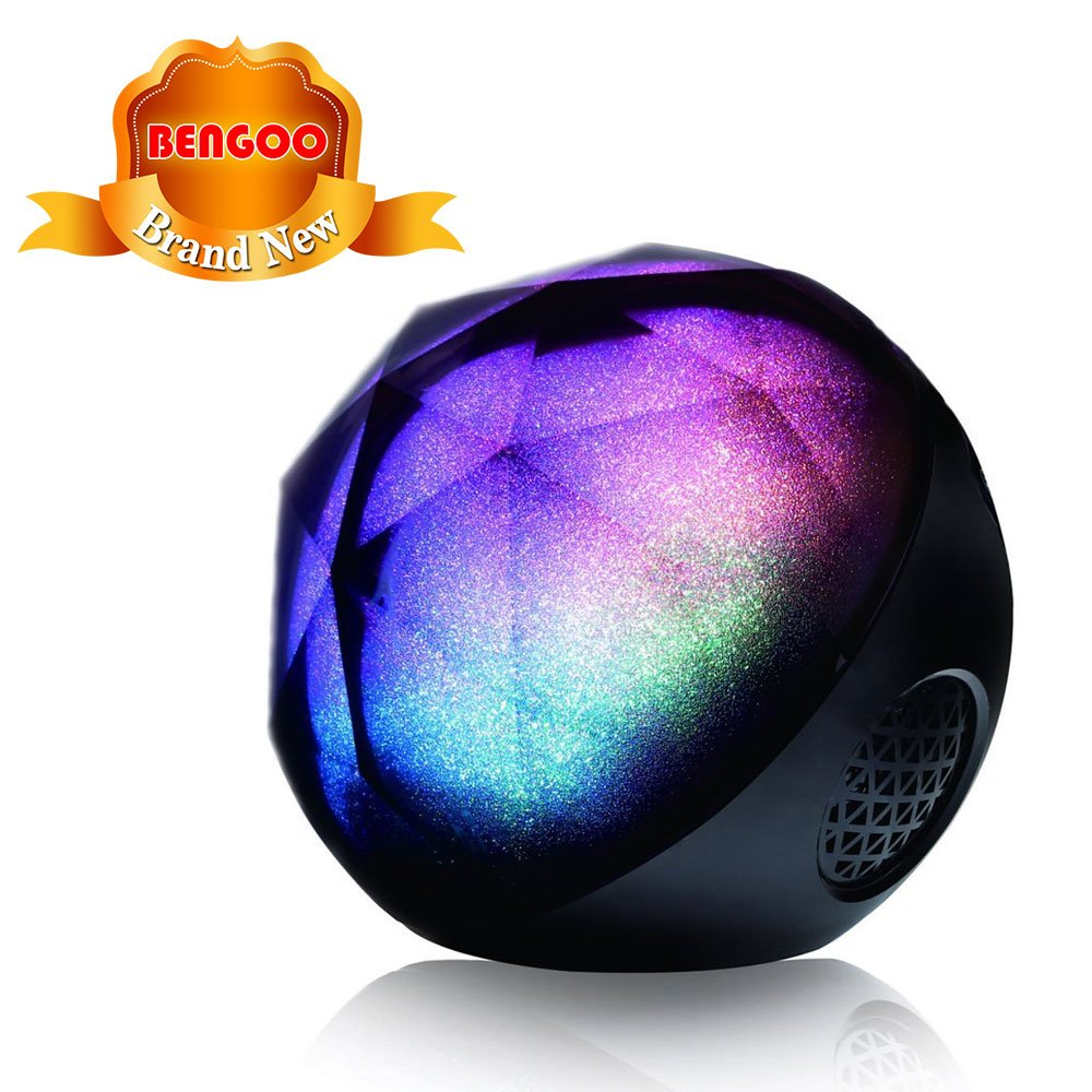Bluetooth Speakers, Bengoo Portable LED Color Lights Wireless Bluetooth Speaker