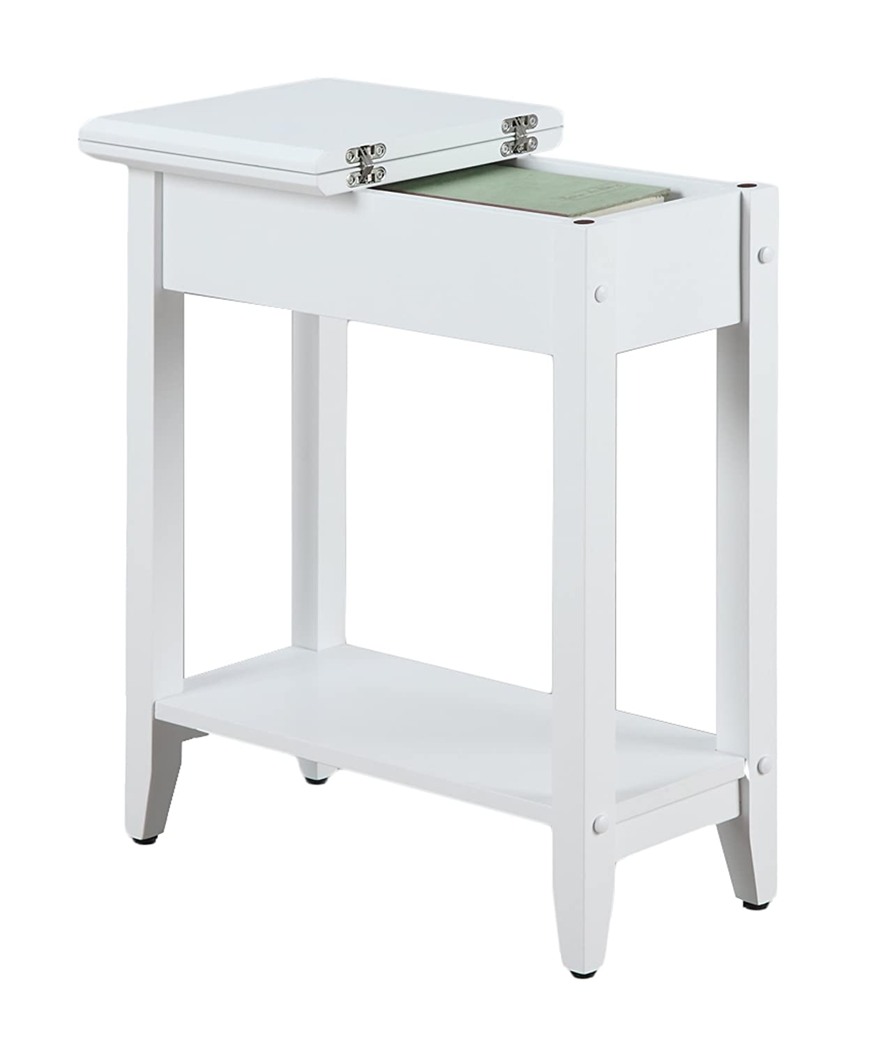 White Flip Top End Coffee Table Furniture Concealed