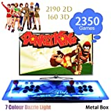 ElementDigital Arcade Game Console 1080P 3D & 2D Games 2350 in 1 Pandora's Box Metal Box with Dream Color LED Lights 2 Players Arcade Machine with Arcade Joystick Support Expand 6000+ Games (Color: 2350 Games)