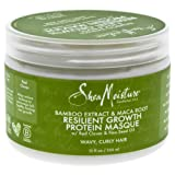 Shea Moisture Bamboo Extract & Maca Root Resilient Growth Protein Masque for Unisex, 12 Ounce (Tamaño: 12 oz)