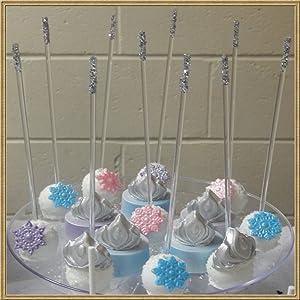 Weststone Reusable 50pcs 6 X 5/32 Clear Acrylic Lollipop Sticks for Cake Pops Lollipop Candy (Color: Clear 6, Tamaño: 6)