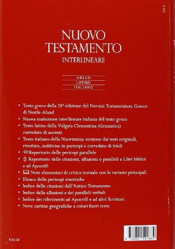 Libro Nuovo Testamento. Versione interlineare in italiano di