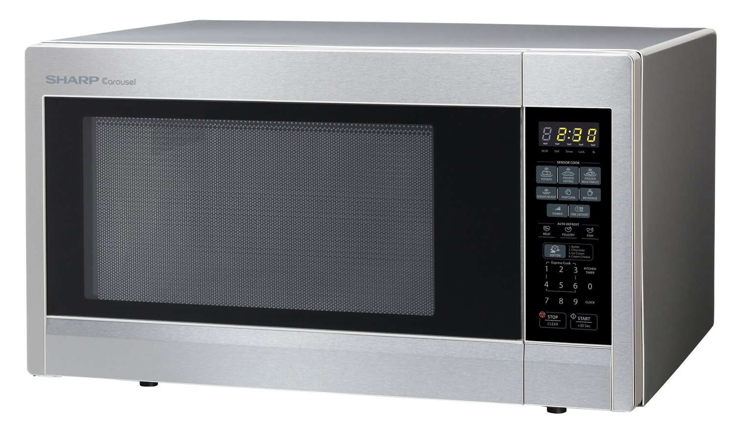 Sharp Countertop Microwave Oven Zr551zs 1 8 Cu Ft 1100w